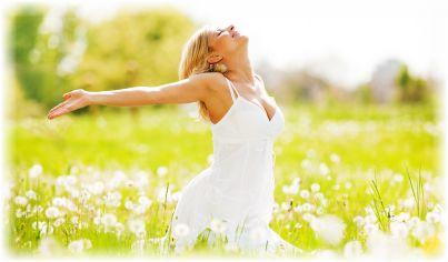 woman feeling abundance